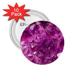 Amethyst Stone Of Healing 2 25  Button (10 Pack) by FunWithFibro