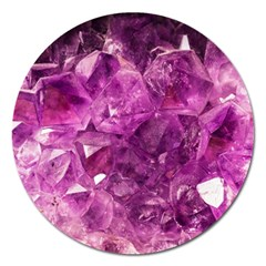 Amethyst Stone Of Healing Magnet 5  (round) by FunWithFibro