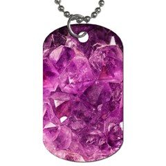 Amethyst Stone Of Healing Dog Tag (two Sided)  by FunWithFibro