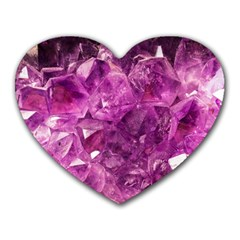 Amethyst Stone Of Healing Mouse Pad (heart) by FunWithFibro