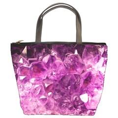Amethyst Stone Of Healing Bucket Handbag by FunWithFibro