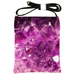 Amethyst Stone Of Healing Shoulder Sling Bag by FunWithFibro