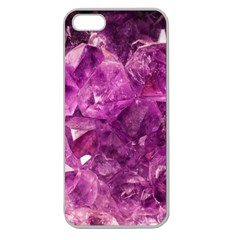 Amethyst Stone Of Healing Apple Seamless Iphone 5 Case (clear) by FunWithFibro