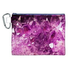 Amethyst Stone Of Healing Canvas Cosmetic Bag (xxl) by FunWithFibro