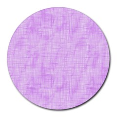 Hidden Pain In Purple 8  Mouse Pad (round) by FunWithFibro