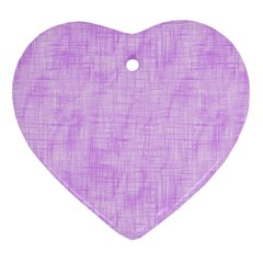 Hidden Pain In Purple Heart Ornament (two Sides) by FunWithFibro