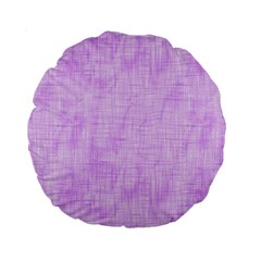 Hidden Pain In Purple 15  Premium Round Cushion  by FunWithFibro