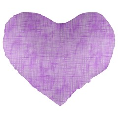 Hidden Pain In Purple 19  Premium Flano Heart Shape Cushion by FunWithFibro