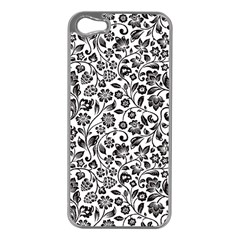 Elegant Glittery Floral Apple Iphone 5 Case (silver) by StuffOrSomething