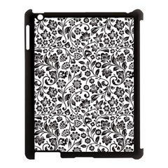 Elegant Glittery Floral Apple Ipad 3/4 Case (black) by StuffOrSomething