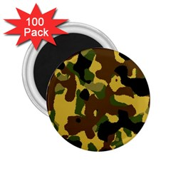 Camo Pattern  2 25  Button Magnet (100 Pack) by Colorfulart23