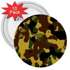 Camo Pattern  3  Button (10 Pack) by Colorfulart23