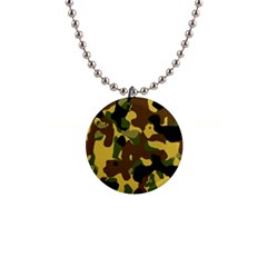 Camo Pattern  Button Necklace by Colorfulart23
