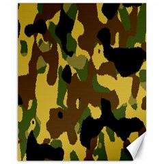 Camo Pattern  Canvas 11  X 14  (unframed) by Colorfulart23