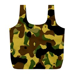 Camo Pattern  Reusable Bag (L) by Colorfulart23