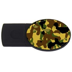 Camo Pattern  2gb Usb Flash Drive (oval) by Colorfulart23