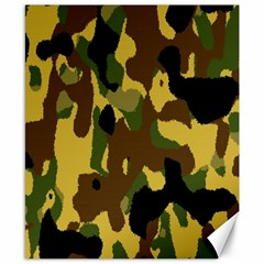 Camo Pattern  Canvas 8  X 10  (unframed) by Colorfulart23