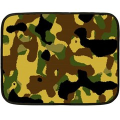 Camo Pattern  Mini Fleece Blanket (two Sided) by Colorfulart23