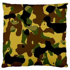 Camo Pattern  Large Cushion Case (single Sided)  by Colorfulart23