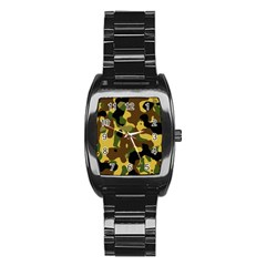 Camo Pattern  Stainless Steel Barrel Watch by Colorfulart23