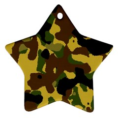 Camo Pattern  Star Ornament by Colorfulart23