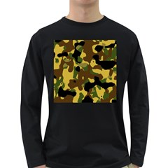 Camo Pattern  Men s Long Sleeve T Shirt (dark Colored) by Colorfulart23