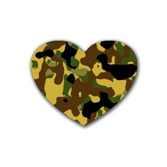 Camo Pattern  Drink Coasters 4 Pack (heart)  by Colorfulart23