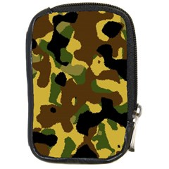 Camo Pattern  Compact Camera Leather Case by Colorfulart23
