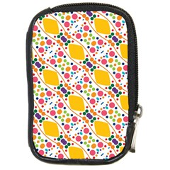 Dots And Rhombus Compact Camera Leather Case by LalyLauraFLM