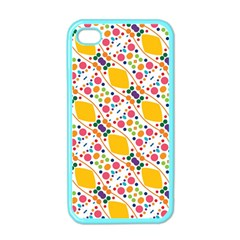 Dots And Rhombus Apple Iphone 4 Case (color) by LalyLauraFLM