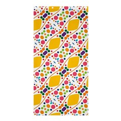 Dots And Rhombus Shower Curtain 36  X 72  (stall) by LalyLauraFLM