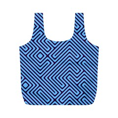 Blue Maze Full Print Recycle Bag (m) by LalyLauraFLM