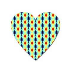 Yellow Chains Pattern Magnet (heart) by LalyLauraFLM