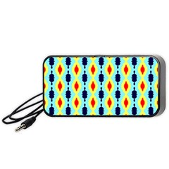 Yellow Chains Pattern Portable Speaker (black) by LalyLauraFLM