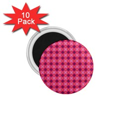 Abstract Pink Floral Tile Pattern 1 75  Button Magnet (10 Pack) by creativemom