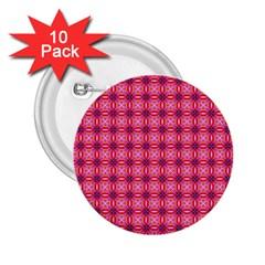 Abstract Pink Floral Tile Pattern 2 25  Button (10 Pack) by creativemom