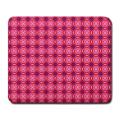 Abstract Pink Floral Tile Pattern Large Mouse Pad (rectangle) by creativemom