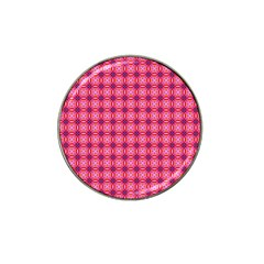 Abstract Pink Floral Tile Pattern Golf Ball Marker (for Hat Clip) by creativemom