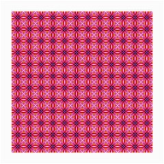 Abstract Pink Floral Tile Pattern Glasses Cloth (medium) by creativemom