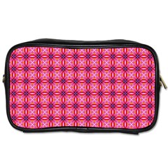 Abstract Pink Floral Tile Pattern Travel Toiletry Bag (one Side) by creativemom