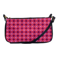 Abstract Pink Floral Tile Pattern Evening Bag by creativemom