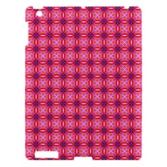 Abstract Pink Floral Tile Pattern Apple Ipad 3/4 Hardshell Case by creativemom