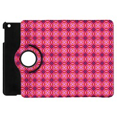 Abstract Pink Floral Tile Pattern Apple Ipad Mini Flip 360 Case by creativemom