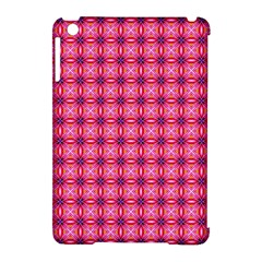 Abstract Pink Floral Tile Pattern Apple Ipad Mini Hardshell Case (compatible With Smart Cover) by creativemom