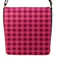 Abstract Pink Floral Tile Pattern Flap Closure Messenger Bag (small) by creativemom