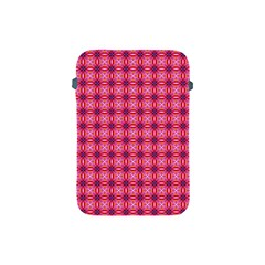 Abstract Pink Floral Tile Pattern Apple Ipad Mini Protective Sleeve by creativemom