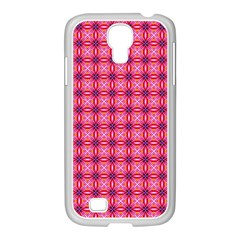 Abstract Pink Floral Tile Pattern Samsung Galaxy S4 I9500/ I9505 Case (white) by creativemom