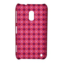 Abstract Pink Floral Tile Pattern Nokia Lumia 620 Hardshell Case by creativemom