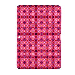 Abstract Pink Floral Tile Pattern Samsung Galaxy Tab 2 (10 1 ) P5100 Hardshell Case  by creativemom