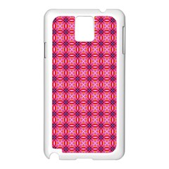 Abstract Pink Floral Tile Pattern Samsung Galaxy Note 3 N9005 Case (white) by creativemom